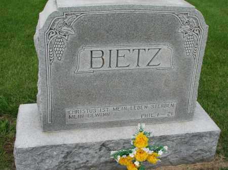 BIETZ, FAMILY PLOT MARKER - Hutchinson County, South Dakota | FAMILY PLOT MARKER BIETZ - South Dakota Gravestone Photos