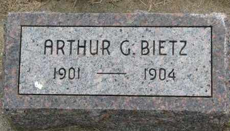 BIETZ, ARTHUR G - Hutchinson County, South Dakota | ARTHUR G BIETZ - South Dakota Gravestone Photos