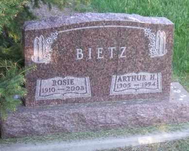 BIETZ, ARTHUR H. - Hutchinson County, South Dakota | ARTHUR H. BIETZ - South Dakota Gravestone Photos