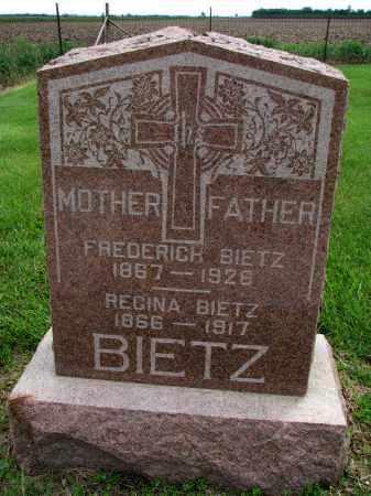BIETZ, FREDERICH - Hutchinson County, South Dakota | FREDERICH BIETZ - South Dakota Gravestone Photos
