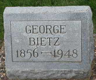 BIETZ, GEORGE - Hutchinson County, South Dakota | GEORGE BIETZ - South Dakota Gravestone Photos