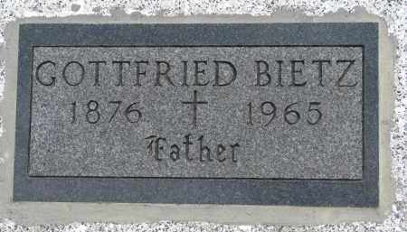 BIETZ, GOTTFRIED - Hutchinson County, South Dakota | GOTTFRIED BIETZ - South Dakota Gravestone Photos