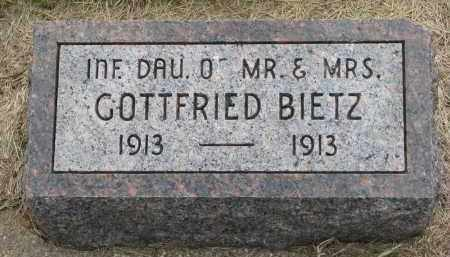 BIETZ, INFANT DAUGHTER - Hutchinson County, South Dakota | INFANT DAUGHTER BIETZ - South Dakota Gravestone Photos