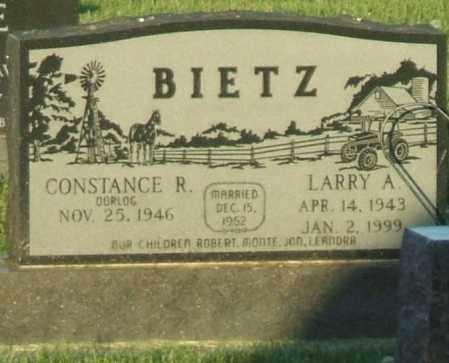 BIETZ, CONSTANCE R. - Hutchinson County, South Dakota   CONSTANCE R. BIETZ - South Dakota Gravestone Photos