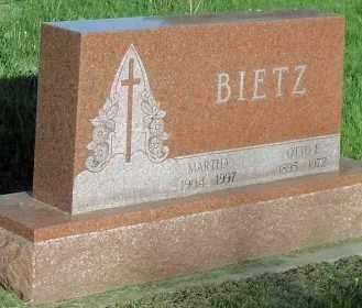 BIETZ, OTTO E. - Hutchinson County, South Dakota | OTTO E. BIETZ - South Dakota Gravestone Photos