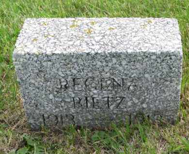 BIETZ, REGINA - Hutchinson County, South Dakota   REGINA BIETZ - South Dakota Gravestone Photos