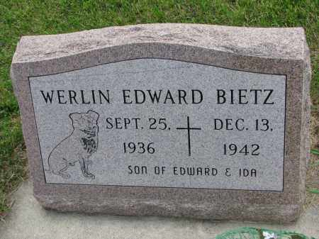 BIETZ, WERLIN EDWARD - Hutchinson County, South Dakota | WERLIN EDWARD BIETZ - South Dakota Gravestone Photos