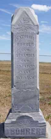 BOHRER, KATHRINA - Hutchinson County, South Dakota   KATHRINA BOHRER - South Dakota Gravestone Photos