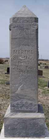 BONK, MARTHA - Hutchinson County, South Dakota   MARTHA BONK - South Dakota Gravestone Photos