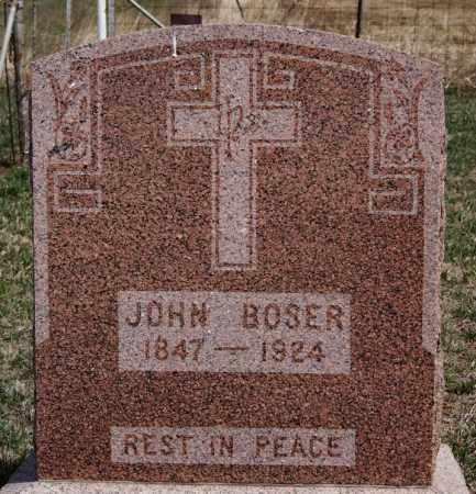 BOSER, JOHN - Hutchinson County, South Dakota   JOHN BOSER - South Dakota Gravestone Photos