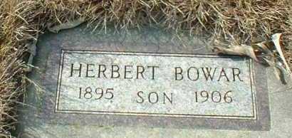 BOWAR, HERBERT - Hutchinson County, South Dakota   HERBERT BOWAR - South Dakota Gravestone Photos