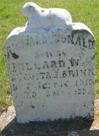 BRINK, RICHARD DONALD - Hutchinson County, South Dakota | RICHARD DONALD BRINK - South Dakota Gravestone Photos