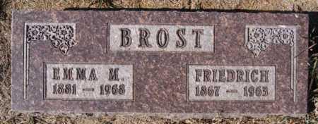 BROST, FRIEDRICH - Hutchinson County, South Dakota | FRIEDRICH BROST - South Dakota Gravestone Photos