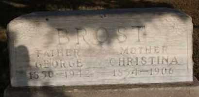 BROST, GEORGE - Hutchinson County, South Dakota   GEORGE BROST - South Dakota Gravestone Photos