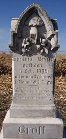 BROST, JUSTINA - Hutchinson County, South Dakota   JUSTINA BROST - South Dakota Gravestone Photos