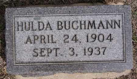 BUCHMANN, HULDA - Hutchinson County, South Dakota | HULDA BUCHMANN - South Dakota Gravestone Photos