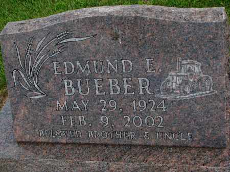 BUEBER, EDMUND E - Hutchinson County, South Dakota | EDMUND E BUEBER - South Dakota Gravestone Photos