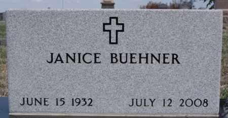 BUEHNER, JANICE - Hutchinson County, South Dakota | JANICE BUEHNER - South Dakota Gravestone Photos