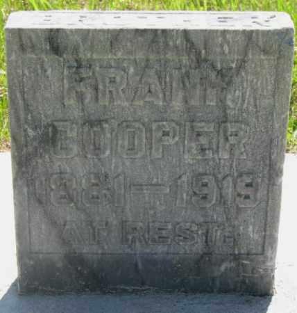 COOPER, FRANK - Hutchinson County, South Dakota   FRANK COOPER - South Dakota Gravestone Photos