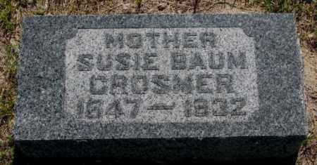 BAUM CROSMER, SUSIE - Hutchinson County, South Dakota | SUSIE BAUM CROSMER - South Dakota Gravestone Photos