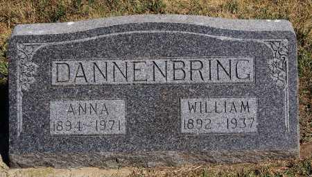DANNENBRING, WILLIAM - Hutchinson County, South Dakota   WILLIAM DANNENBRING - South Dakota Gravestone Photos