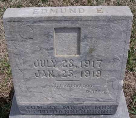 DANNENBRING, EDMUND E - Hutchinson County, South Dakota | EDMUND E DANNENBRING - South Dakota Gravestone Photos