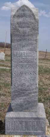 DANNENBRING, WILHELMINA - Hutchinson County, South Dakota   WILHELMINA DANNENBRING - South Dakota Gravestone Photos