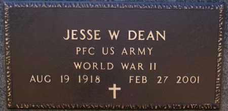 DEAN, JESSE W (WWII) - Hutchinson County, South Dakota | JESSE W (WWII) DEAN - South Dakota Gravestone Photos
