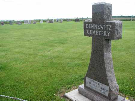 *DENNEWITZ, ENTRANCE VIEW - Hutchinson County, South Dakota   ENTRANCE VIEW *DENNEWITZ - South Dakota Gravestone Photos