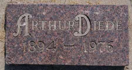 DIEDE, ARTHUR - Hutchinson County, South Dakota | ARTHUR DIEDE - South Dakota Gravestone Photos