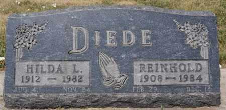 DIEDE, REINHOLD - Hutchinson County, South Dakota | REINHOLD DIEDE - South Dakota Gravestone Photos