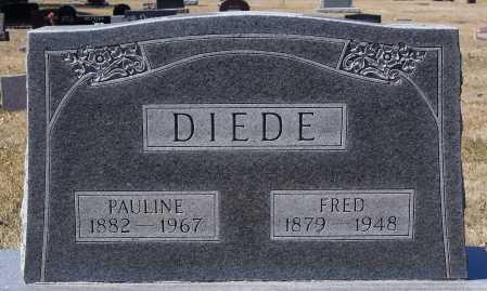DIEDE, FRED - Hutchinson County, South Dakota | FRED DIEDE - South Dakota Gravestone Photos