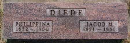 DIEDE, JACOB M - Hutchinson County, South Dakota | JACOB M DIEDE - South Dakota Gravestone Photos