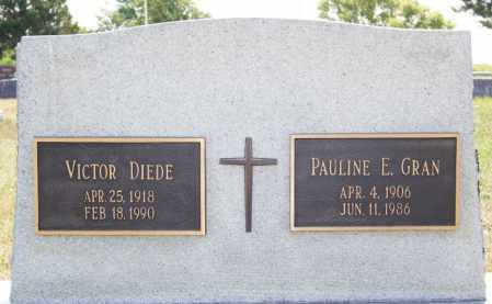 DIEDE, VICTOR - Hutchinson County, South Dakota   VICTOR DIEDE - South Dakota Gravestone Photos