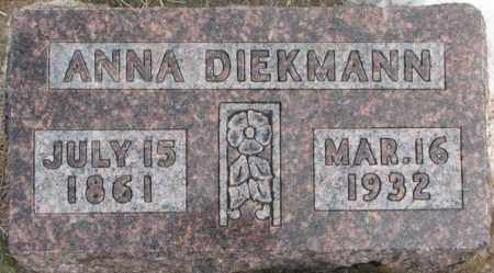 DIEKMANN, ANNA - Hutchinson County, South Dakota | ANNA DIEKMANN - South Dakota Gravestone Photos