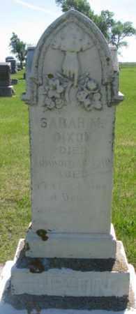 DIXON, SARAH M. - Hutchinson County, South Dakota | SARAH M. DIXON - South Dakota Gravestone Photos