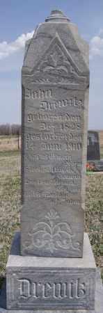 DREWITZ, JOHN - Hutchinson County, South Dakota | JOHN DREWITZ - South Dakota Gravestone Photos