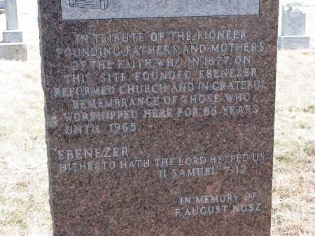 *EBENEZER REFORMED, CHURCH MARKER - Hutchinson County, South Dakota | CHURCH MARKER *EBENEZER REFORMED - South Dakota Gravestone Photos