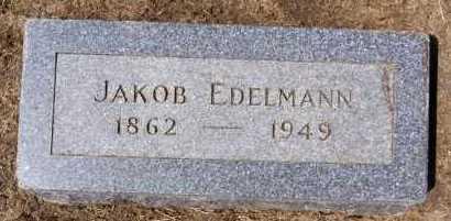 EDELMANN, JAKOB - Hutchinson County, South Dakota | JAKOB EDELMANN - South Dakota Gravestone Photos