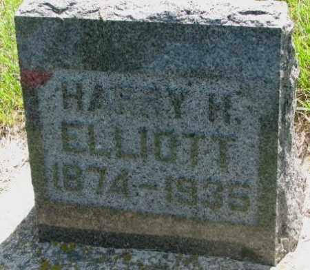 ELLIOTT, HARRY H. - Hutchinson County, South Dakota | HARRY H. ELLIOTT - South Dakota Gravestone Photos