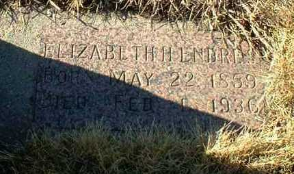 ENDRES, ELIZABETH - Hutchinson County, South Dakota | ELIZABETH ENDRES - South Dakota Gravestone Photos
