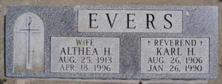 EVERS, KARL H - Hutchinson County, South Dakota | KARL H EVERS - South Dakota Gravestone Photos