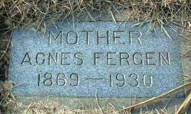 FERGEN, AGNES - Hutchinson County, South Dakota | AGNES FERGEN - South Dakota Gravestone Photos