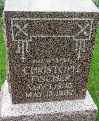 FISCHER, CHRISTOPH - Hutchinson County, South Dakota | CHRISTOPH FISCHER - South Dakota Gravestone Photos
