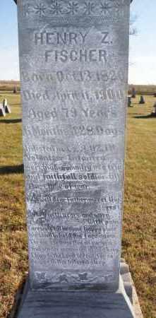 FISCHER, HENRY Z CLOSE UP - Hutchinson County, South Dakota | HENRY Z CLOSE UP FISCHER - South Dakota Gravestone Photos
