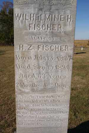 FISCHER, WILHELMINE H CLOSE UP - Hutchinson County, South Dakota | WILHELMINE H CLOSE UP FISCHER - South Dakota Gravestone Photos