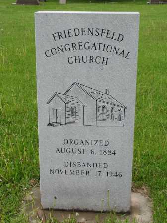 *FRIEDENSFELD, CONGREGATIONAL CEMETERY - Hutchinson County, South Dakota | CONGREGATIONAL CEMETERY *FRIEDENSFELD - South Dakota Gravestone Photos