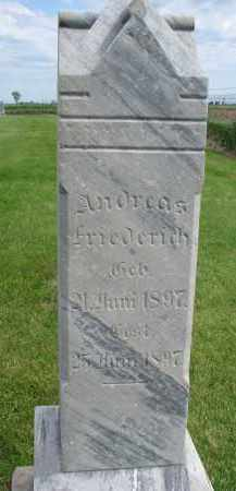 FRIEDERICH, ANDREAS - Hutchinson County, South Dakota | ANDREAS FRIEDERICH - South Dakota Gravestone Photos