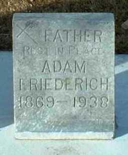 FRIEDERICH, ADAM - Hutchinson County, South Dakota   ADAM FRIEDERICH - South Dakota Gravestone Photos