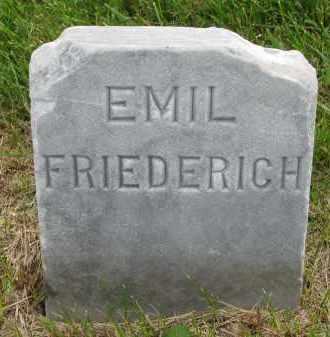 FRIEDERICH, EMIL - Hutchinson County, South Dakota   EMIL FRIEDERICH - South Dakota Gravestone Photos